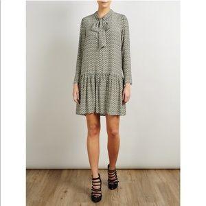 Geometric Patterned drop waist dress